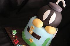 La fabrik à Gâteaux,  Some of the cutest cakes!  Mario themed fondant cake.