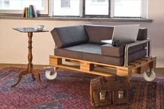 We are presenting pallet furniture plans which you will love a lot. Let me clear you that these pallet furniture plans are so easy to make at home and in a Pallet Seating, Pallet Chair, Pallet Cushions, Wooden Pallet Crafts, Diy Pallet Projects, Pallet Ideas, Reclaimed Wood Furniture, Diy Pallet Furniture, Painted Furniture