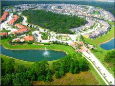 Emerald Island Resort from the sky. Super resort next to Disney