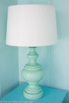 I have a lamp like this... need a new light fixture and then some spray paint.