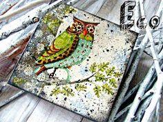 decoupage box for jewellery by Eco Manufaktura #decoupage #owl