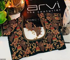 Neckline Embroidery for classy lovers Wedding Saree Blouse Designs, Blouse Designs Silk, Designer Blouse Patterns, Princess Cut Blouse Design, Diana, Stylish Blouse Design, Bride, Cherry, Neckline