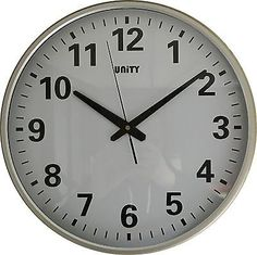 UNITY TEJO SILENT SWEEP NON-TICKING 38cm EXTRA LARGE HOME OFFICE WALL CLOCK