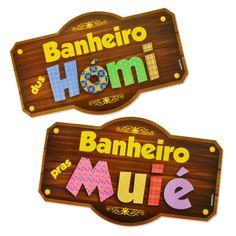 Compre KAIXOTE : Placas para Banheiro Kaixote Festa Junina c/ 02 unidades por R$5,50 - MZDecoracoes