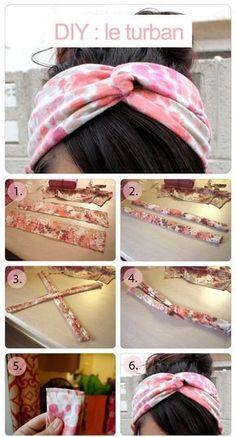 tuto turban à faire soi même , facile et simple
