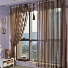 ( One Panel ) Kent Traditional Sheer Curtains ($30) ❤ liked on Polyvore featuring home, home decor, window treatments, curtains, sheer curtains, traditional curtains, sheer window treatments, sheer window coverings and sheer draperies
