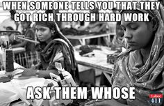 """""""When someone tells you they got rich through hard work, ask them, 'whose'?""""  [follow this link to find a short video and analysis exploring the disappearing American dream: http://www.thesociologicalcinema.com/1/post/2012/12/what-happened-to-the-american-dream.html]"""
