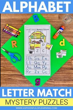 Let's practice the alphabet with some letter matching activities! This letter matching activity has students practicing letter identification, letter matching, and handwriting with a little twist! Students match uppercase letters to uppercase letters, lowercase letters to lowercase letters, and uppercase letters to lowercase letters to reveal a mystery picture. So many skills and lots of fun with this alphabet letter matching activity! There are 9 alphabet letter matching puzzles included!