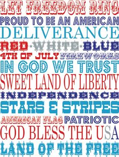 Print, slip into a frame, and create a patriotic vignette with these FREE Patriotic Printables.