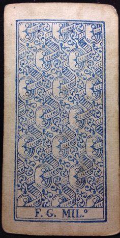1835 Jack of Swords Trump Arcana Tarot Playing Cards Milan Italy Tarocchi Single | eBay