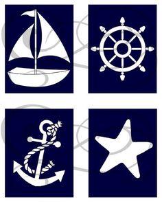 nautical nursery | Nautical Nursery Prints Set of 4 by OnceUponAPrints on Etsy, $16.00 ...