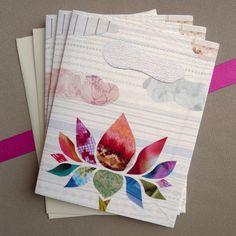 Lotus Collage Note Set