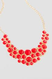 Belize Statement Necklace in Red