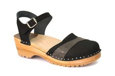 Browse here for our latest collection of Penny clog sandals. Here in black oily nubuck. Buy today from our online store