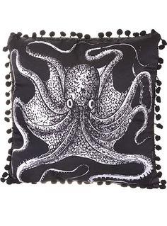 Onyx Octopus Satin Pillow at PLASTICLAND