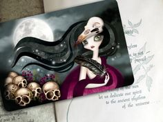 The Witching Hour  Limited Edition Postcard  by sandragrafik, $2.50