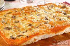 Receita de Fogazza de mussarela com aliche - Comida e Receitas