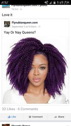 Purple Crochet Braids ▪12 in Havana Twist