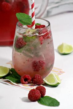 This Raspberry Mojito is sweet, refreshing and the perfect beverage choice for your summer parties.