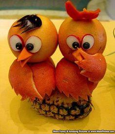Food And Creativity – Amazing Bird Made Up Of Orange Peel