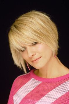 short layered hairstyles on pinterest | bob haircut with bangs Cute and Cool Short Hairstyles For Women7