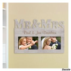 Mr. & Mrs. Collage Picture Frames