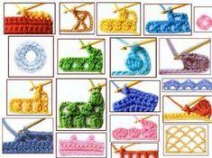100 puntadas de crochet y símbolos en español