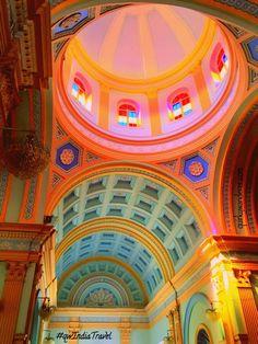 Stunning interiors of Agnes church, Pondicherry , India.
