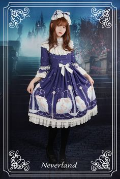 Neverland Lolita (SuffleSong) -Starlit Aquarius- High Collar Lolita OP Dress