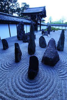 Zen Garden - Tofuku-ji temple, Kyoto, Japan