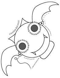 Cute Printable Halloween Animal Paper Masks Bat Mask Coloring Page U2013  Fantasy Jr. Use A Craft Stick?