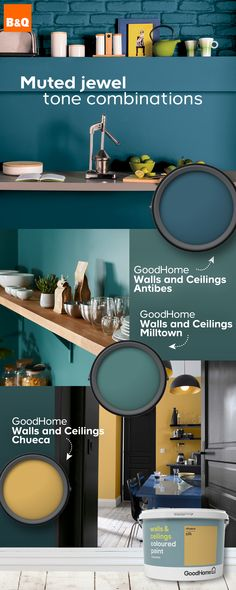 Pairing great tones together in colour combinations is set to be a big trend in 2019 and this season's hottest couple sees muted jewel shades matched up for ultimate impact. Opulent emeralds will become dusky greens whilst rich ruby will transform into so House Color Schemes, Bedroom Color Schemes, Bedroom Colors, House Colors, Colour Schemes, Farmhouse Style Kitchen, Modern Farmhouse Kitchens, Bedroom Designs For Couples, Chimney Decor