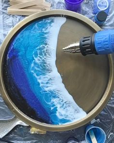 Diy Resin Projects, Diy Resin Art, Diy Resin Crafts, Epoxy Resin Wood, Resin Furniture, Acrylic Pouring Art, Resin Tutorial, Resin Table, Daily Inspiration