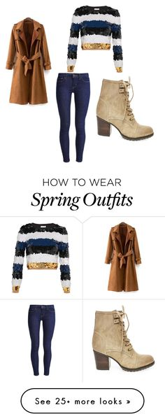 """spring outfit"" by alma-brankovic on Polyvore featuring Steve Madden, Levi's and Sonia Rykiel"