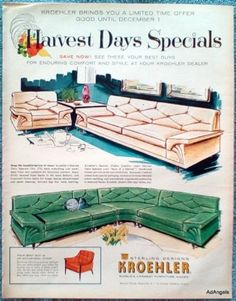 1960-Kroehler-Furniture-Harvest-Days-Specials-Couch-Chair-Sectional-ad