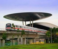 Norman Foster ufo structure at a rail line  #Foster #Norman Pinned by www.modlar.com