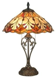 Amber tiffany-lamps. Love these colors