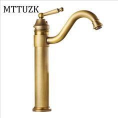 48.22$  Buy here - MTTUZK Free Shipping  Deck Bathroom Basin Sink Mixer Tap Antique/ Gold/ Faucet Waterfall Faucet Bathroom Faucet Basin Tap   #shopstyle