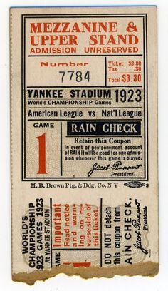 Net 54 Vintage Baseball Memorabilia Forum: Let's see your favorite full tickets or ticket stubs