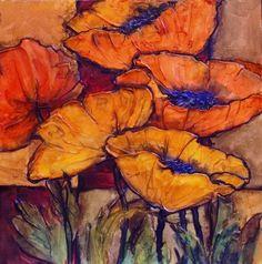 "water color Poppy  | ... POPPY SKETCH 1,"" 10149, daily painter textured poppy © Carol Nelson"