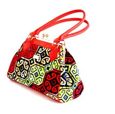 African Print Bag tote. My aim is to Design Luxury African Print Handbags at a reasonable price. All my wax print are carefully selected and of the highest quality possible.This cute tote bag is for t                                                                                                                                                      More