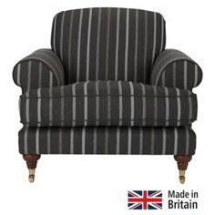 Buy Heart of House Sherbourne Striped Fabric Chair - Charcoal at Argos.co.uk - Your Online Shop for Armchairs and chairs.