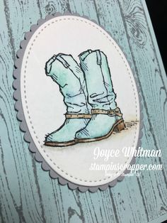 I love to watercolor using the Aqua Painters from Stampin' Up!. I used the Country Livin' and Hardwood background stamp sets.