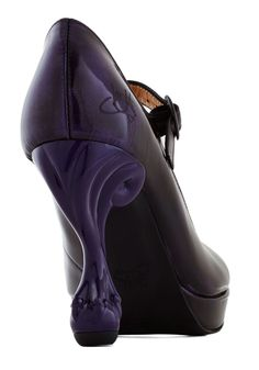 John Fluevog Best Claw-Foot Forward Heel in Amethyst Sky. You always aim to make the best impression possible, and these black heels from John Fluevog will quickly become your best friend in this endeavor! Tap Shoes, Me Too Shoes, Dance Shoes, Shoes Heels, Pumps, Purple Shoes, Purple Bags, Bootie Boots, Shoe Boots