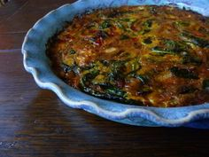 Texas Style Crustless Quiche - The lack of crust gives the quiche a frittata-like feel, but with a bit a more height.