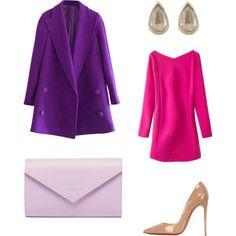 pink, purple or lila? by ramona-damian on Polyvore featuring polyvore, fashion, style, Christian Louboutin, Balenciaga and Anaconda