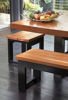 Dining stools, benches with Table