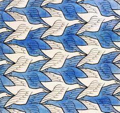 Mathematical art of Escher