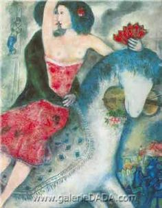marc chagall paintings | Marc Chagall, Equestrienne Fine Art Reproduction Oil Painting