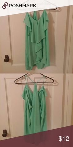 Maurices Teal Blouse Flow Tank Worn once Maurices Tops Tank Tops